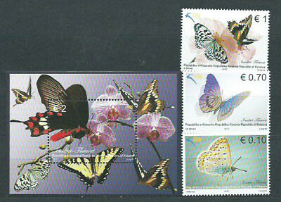 Kosovo Independence - Mail Yvert 104/6+H.13 Mnh Butterflies