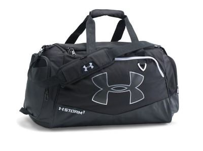 Under Armour Undeniable II Small Duffel Gym Bag Black Tote Carry On Storm New