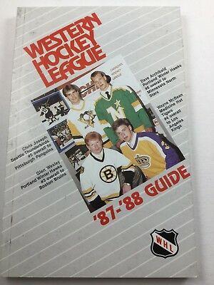 1987-88  Western Hockey League Official Media Guide WHL Glen Wesley Cover