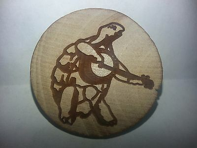 Turtle Terrapin Banjo Wooden Hat Pin or Magnet Grateful Dead and Company