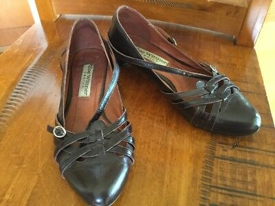 Women's Brown Leather Shoes, Size 37 From Zoe Wittner