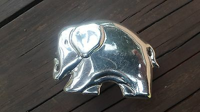Mexico 925 Sterling Silver Elephant Shaped Decorative Box Signed Syjuv Ms-88