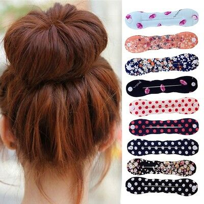 Women's Magic Hair Bun Snap Styling Donut Former French Twist Band Maker Tool