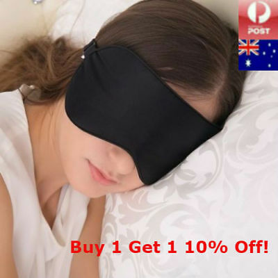 100% Pure Silk Sleep Soft Eye Mask Sleeping Travel Comfort Blindfold Lights Out