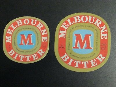 Vintage Melbourne Bitter Beer Labels x 2