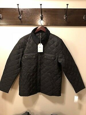 NWT Barbour Tinford Jacket Mens Black Size M MQU0501