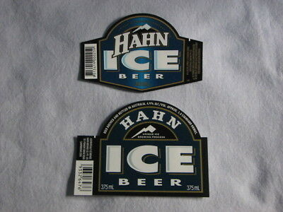 Vintage Hahn Beer Labels x 2