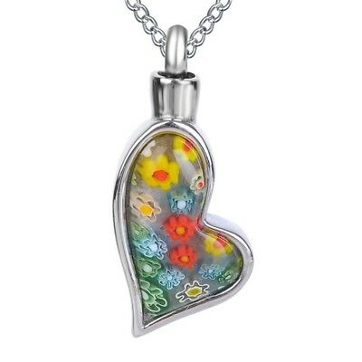 Heart shaped memorial cremation jewellery/pendant/urn for ashes