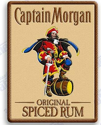 "CAPTAIN MORGAN SPICED RUM   iron on embroidery patch 3.4"" X 2.6"" Pirates liquor"