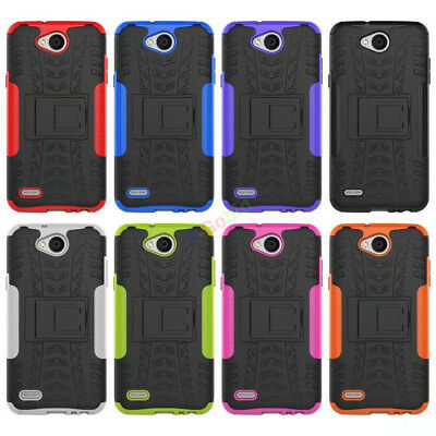 For LG series Phones Hybrid Rugged Armor Shockproof Hard Case Kickstand Cover
