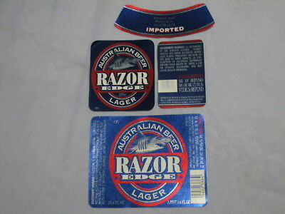 Vintage Razor Edge Beer Labels x 2