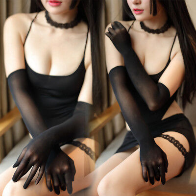 Women Sexy Sheer Seamless Long Gloves Affordable Pantyhose Mittens Stockings