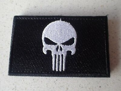 New Punisher Black & Red tactical Morale Hook Loop Patch Aussie Stock