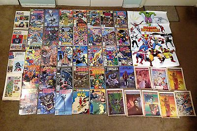 COMIC BOOK LOT of 33 Plus Extras Infinity Gauntlet MARVEL DC NO DUPLICATES
