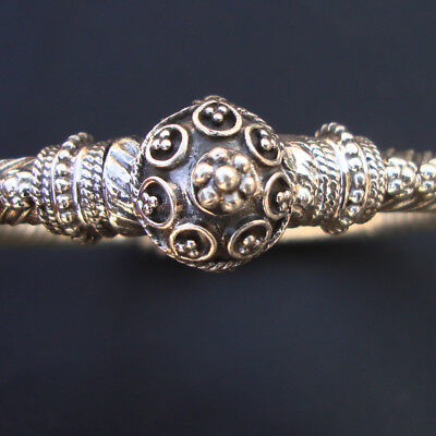 Antique Ethnic tribal Old Silver Vintage Bangle Bracelet Traditional Jewelry