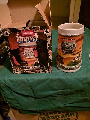 BUDWEISER SALUTES ARMY BEER STEIN Military Series Anheuser-Busch