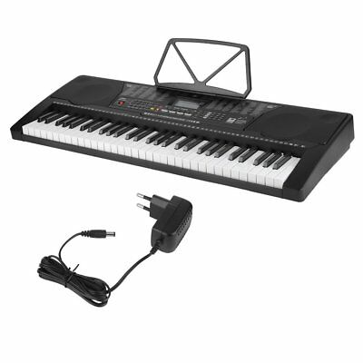 61 Leucht Tasten Keyboard E-Piano Lern Klavier 255 Sounds & Rhythmen USB MP3 #M