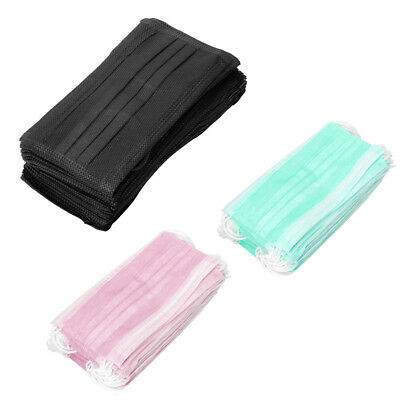50X Anti-Dust Mouth Cover Face Masks Health Care Medical Women Men Disposable UK