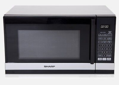 Sharp R240YS - Compact 800W Microwave oven Silver Colour