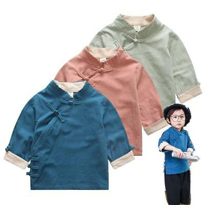 Chinese New Year festival Kids Baby boy girl Tang suit cheongsam