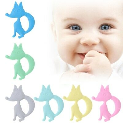 Baby Silicone Teether Fox Teething Toys Necklace Newborn Chewing Infant Nursing