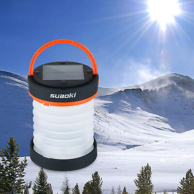 Suaoki Portable Solar Camping Hiking LED Lantern Rechargeable Tent Light Outdoor