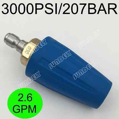 2.6 GPM 3000PSI Washer Turbo Head Nozzle for High Pressure Water Cleaner Blue