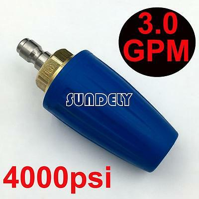 3.0 GPM Blue Turbo Head Nozzle for High Pressure Water Cleaner 4000PSI/276BAR