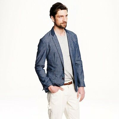 Bnwt Men's J.crew Ludlow Blazer In Contrast Japanese Chambray