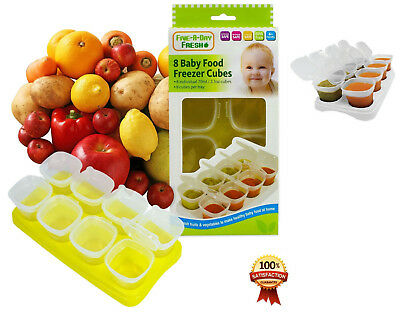 Baby Weaning Food Freezing Cubes Tray Pots Freezer Storage Container BPA Free
