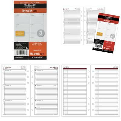 """Day Runner Weekly Planner Refill 2017, 3-3/4 X 6-3/4"""", Size 3 (063-285Y)"""