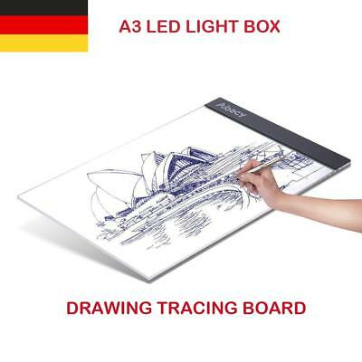 LED A3 Lichttisch Leuchttisch Leuchtpult Dimmbar Design Art Tattoo Drawing G6M3