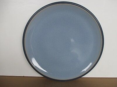 Denby Pottery Blue Jetty 3 x New 1st Quality Dinner Plates Excellent Condition