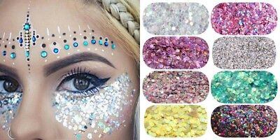 Chunky, Holographic, Metallic FESTIVAL and UNICORN GLITTER for BODY NAILS CRAFT