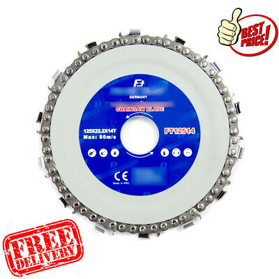 Chainsaw Disc for Cutting Wood Saw Blade Chain Circular 125mm x 22 x 14T BEST HQ