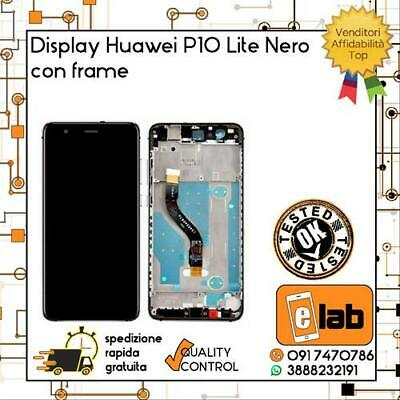 Touch Lcd Display Per Huawei P10 Lite Nero Con Frame Was-Lx1 Was-Lx1A Schermo
