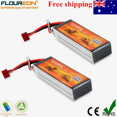 2x 7.4V 8000mAh 2S 40C LiPo Battery Deans for RC Car Quadrocopter Truck Airplane