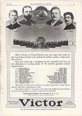 VICTOR Victrola & Records 1912 Full Page Ad JOHN PHILIP SOUSA-VICTOR HERBERT