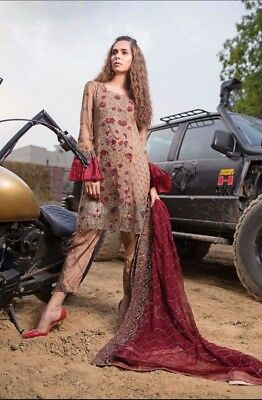 Pakistani Imrozia 2018 Latest Chiffon Embroider Collection Shalwar Kameez