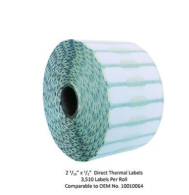 "2 3/16"" x 1/2"" Jewelry Barbell Labels - 1 Roll - Zebra Compatible 10010064"