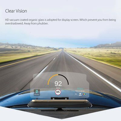 Universal Car Head Up Display Phone Stand GPS Navigation Holder HD Reflect HUDPL