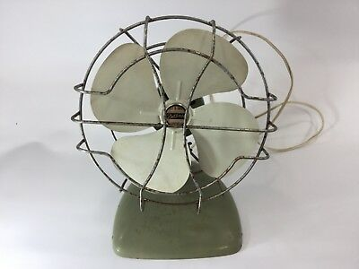 Vintage Retro Green Round Fan Belknap USA made RARE Collectors Antique