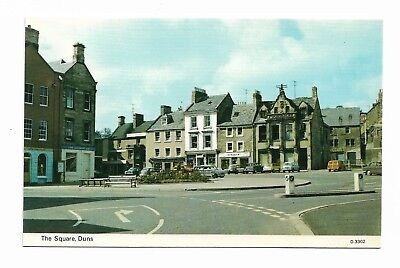 The Square, Dunns, Berwickshire Vintage Postcard 247D
