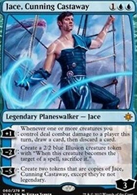 NEW MINT MTG Ixalan  - Jace, Cunning Castaway - Magic The Gathering w/TOP LOADER