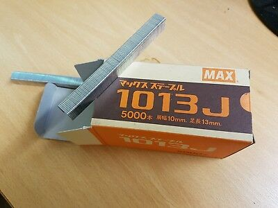 Max 1013J Industrial Staples. Crown 10mm, 13mm length