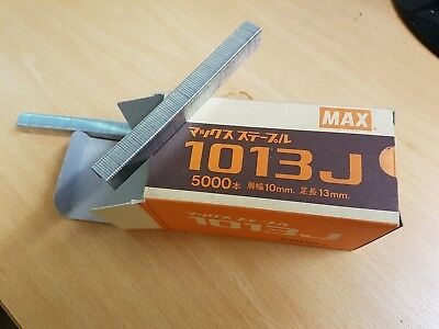 Max 1013J Industrial Staples. Crown 10mm, 13mm length. Fit Max TA-20A-1013J Tool
