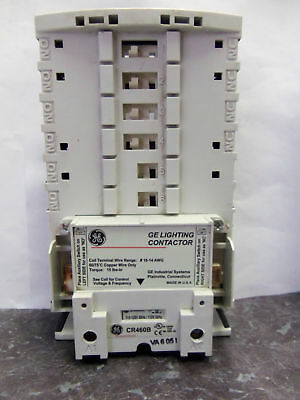 Nice GE General Electric CR460B 120V Coil Lighting Contactor Base