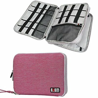 Travel Storage Bag / Electronics Accessories Organizer USB Cable Bag Rose Red