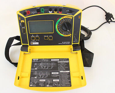 Chauvin Arnoux  6115N multifunctional installation tester C.A 6115N TESTED