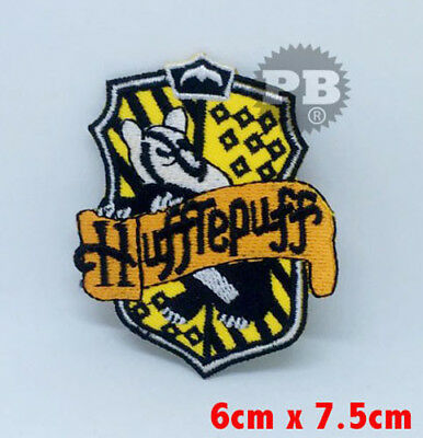 Hufflepuff House crest Harry Potter Iron on Sew on Embroidered Patch